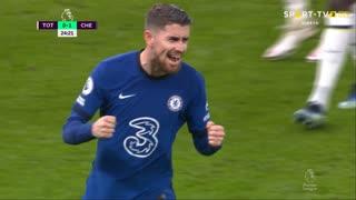 GOLO! Chelsea, Jorginho aos 24', Tottenham 0-1 Chelsea