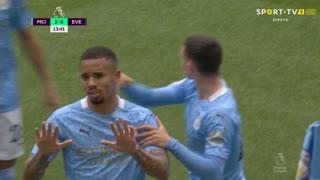 GOLO! Man. City, Gabriel Jesus aos 14', Man. City 2-0 Everton