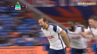 GOLO! Tottenham, H. Kane aos 23', Crystal Palace 0-1 Tottenham