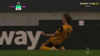 GOLO! Wolverhampton, Fábio Silva aos 38', Wolverhampton 1-1 West Bromwich Albion