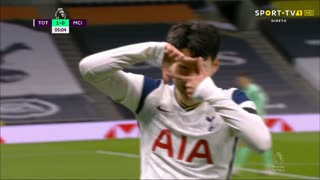 GOLO! Tottenham, Heung-Min Son aos 5', Tottenham 1-0 Man. City