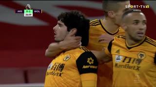 GOLO! Wolverhampton, Pedro Neto aos 27', Arsenal 0-1 Wolverhampton