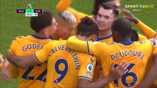 GOLO! Everton, D. Calvert-Lewin aos 45'+3', Burnley 1-1 Everton