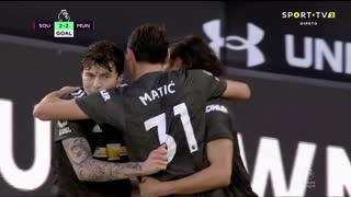GOLO! Man. United, E. Cavani aos 74', Southampton 2-2 Man. United