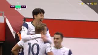 GOLO! Tottenham, Heung-Min Son aos 7', Man. United 1-2 Tottenham