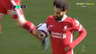 GOLO! Liverpool, Mohamed Salah aos 57', Liverpool 1-1 Aston Villa