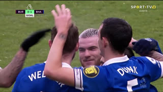 GOLO! Brighton, L. Dunk aos 36', Burnley 0-1 Brighton