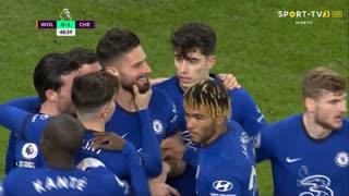 GOLO! Chelsea, O. Giroud aos 49', Wolverhampton 0-1 Chelsea