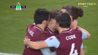 GOLO! Burnley, A. Barnes aos 52', Burnley 1-1 Fulham