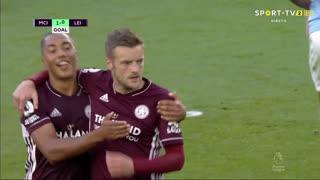 GOLO! Leicester City, J. Vardy aos 37', Man. City 1-1 Leicester City