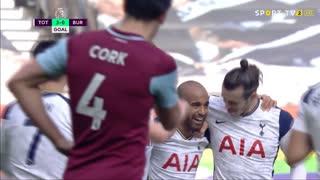 GOLO! Tottenham, Lucas Moura aos 31', Tottenham 3-0 Burnley
