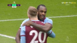 GOLO! West Ham, M. Antonio aos 5', West Ham 1-0 Tottenham