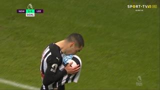 GOLO! Newcastle, M. Almirón aos 57', Newcastle 1-1 Leeds United
