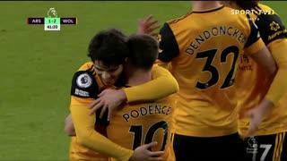 GOLO! Wolverhampton, Daniel Podence aos 42', Arsenal 1-2 Wolverhampton