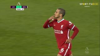 GOLO! Liverpool, Thiago Alcântara aos 90', Liverpool 2-0 Southampton