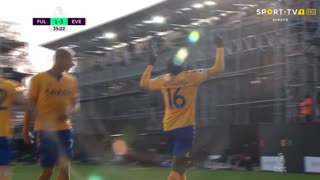 GOLO! Everton, A. Doucouré aos 35', Fulham 1-3 Everton