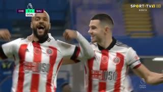 GOLO! Sheffield United, D. McGoldrick aos 9', Chelsea 0-1 Sheffield United