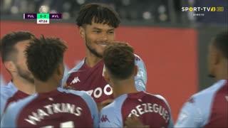 GOLO! Aston Villa, T. Mings aos 48', Fulham 0-3 Aston Villa