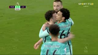 GOLO! Liverpool, Diogo Jota aos 34', Man. United 1-1 Liverpool