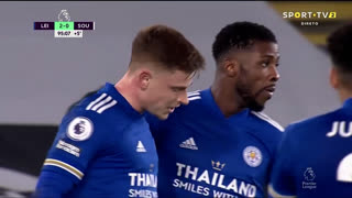 GOLO! Leicester City, H. Barnes aos 90'+5', Leicester City 2-0 Southampton