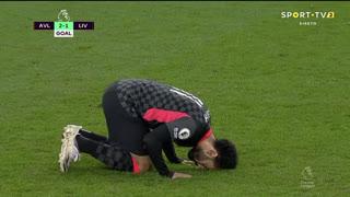GOLO! Liverpool, Mohamed Salah aos 33', Aston Villa 2-1 Liverpool
