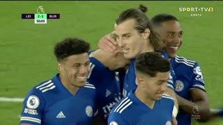 GOLO! Leicester City, E. Pieters (p.b.) aos 50', Leicester City 2-1 Burnley