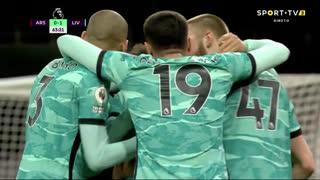 GOLO! Liverpool, Diogo Jota aos 64', Arsenal 0-1 Liverpool
