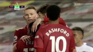 GOLO! Man. United, Victor Lindelöf aos 37', Man. United 4-0 Leeds United