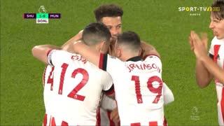 GOLO! Sheffield United, D. McGoldrick aos 5', Sheffield United 1-0 Man. United