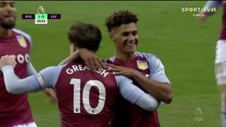 GOLO! Aston Villa, O. Watkins aos 4', Aston Villa 1-0 Liverpool