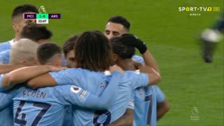 GOLO! Man. City, R. Sterling aos 23', Man. City 1-0 Arsenal