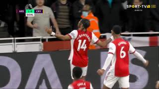 GOLO! Arsenal, P. Aubameyang aos 8', Arsenal 1-0 Crystal Palace