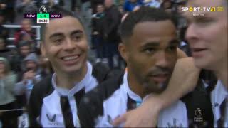 GOLO! Newcastle, C. Wilson aos 5', Newcastle 1-0 West Ham