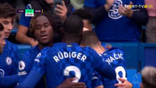GOLO! Chelsea, M. Mount aos 8', Chelsea 1-0 Norwich