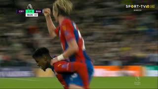 GOLO! Crystal Palace, W. Zaha aos 45'+2', Crystal Palace 1-0 Brighton