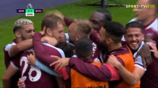 Premier League (1ª Jornada): Resumo Newcastle 2-4 West Ham