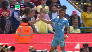 GOLO! Man. City, Ferran Torres aos 12', Man. City 2-0 Arsenal