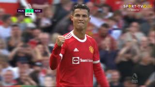 GOLO! Man. United, Cristiano Ronaldo aos 62', Man. United 2-1 Newcastle