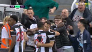 GOLO! Newcastle, A. Saint-Maximin aos 44', Newcastle 1-1 Leeds United