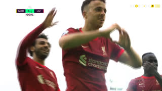 GOLO! Liverpool, Diogo Jota aos 26', Norwich 0-1 Liverpool