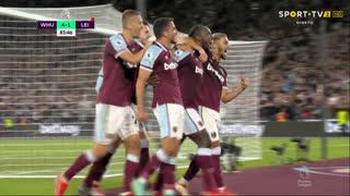 GOLO! West Ham, M. Antonio aos 84', West Ham 4-1 Leicester City