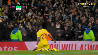 GOLO! Crystal Palace, O. Édouard aos 73', Arsenal 1-2 Crystal Palace