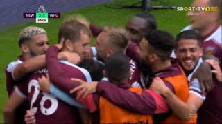 GOLO! West Ham, T. Souček aos 63', Newcastle 2-3 West Ham