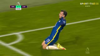 GOLO! Chelsea, B. Chilwell aos 45', Brentford 0-1 Chelsea