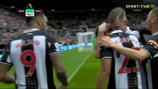 GOLO! Newcastle, Jacob Murphy aos 40', Newcastle 2-1 West Ham