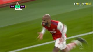 GOLO! Arsenal, A. Lacazette aos 90'+5', Arsenal 2-2 Crystal Palace