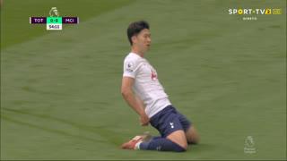 GOLO! Tottenham, Heung-Min Son aos 55', Tottenham 1-0 Man. City