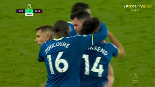 GOLO! Everton, A. Townsend aos 60', Everton 1-1 Burnley