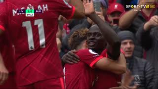 GOLO! Liverpool, S. Mané aos 69', Liverpool 2-0 Burnley