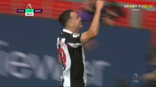 GOLO! Newcastle, Javi Manquillo aos 56', Man. United 1-1 Newcastle